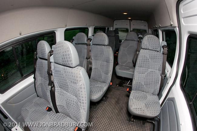 Minibus rear seats