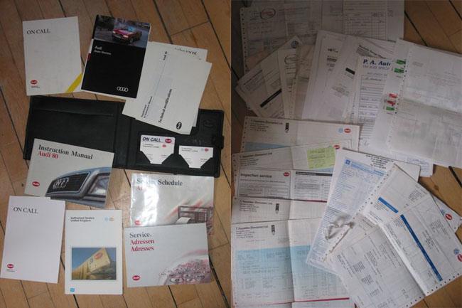 Audi Paperwork