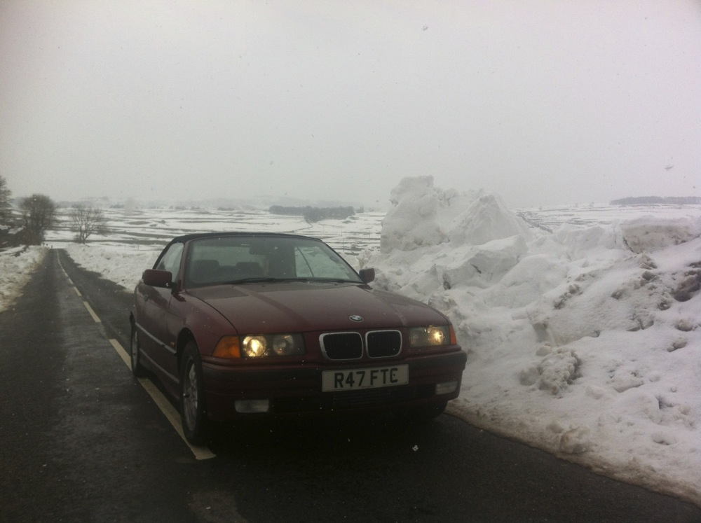 BMW out in the snow?