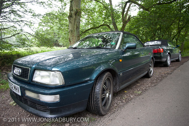 Two Audi Cabriolets